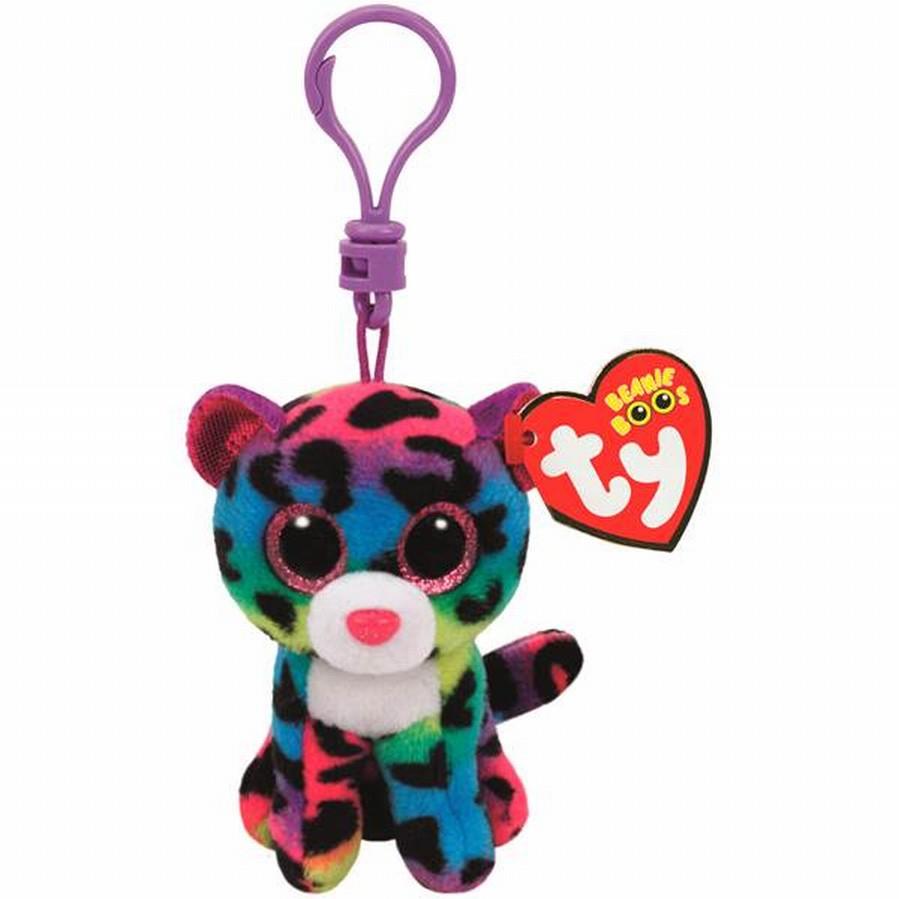 Plus Breloc Ty 8.5cm Boos Leopard Multicolor