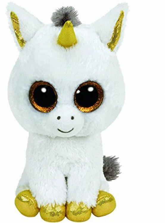 Plus Ty 15cm Boos Pegasus Unicorn Alb