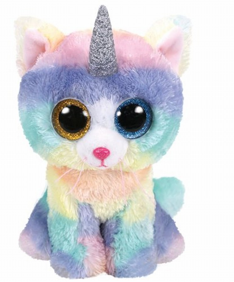 Plus Ty 15cm Boos Heather Pisica Unicorn