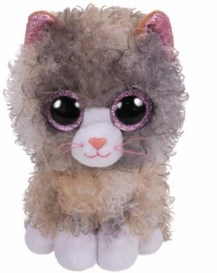 Plus Ty 15cm Boos Scrappy Pisica Maro Cu Gri