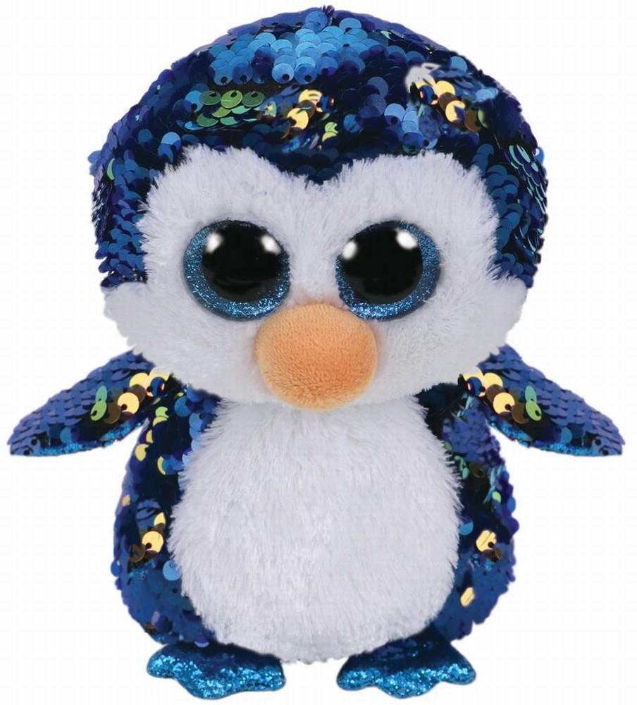 Plus Ty 24cm Boos Pinguinul Payton Cu Paiete
