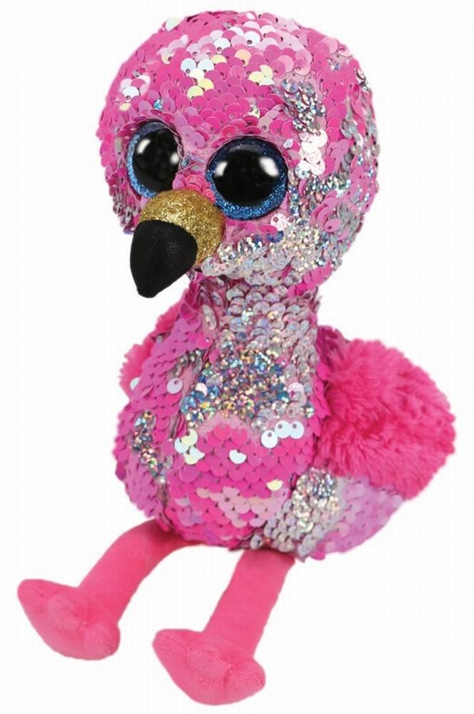 Plus Ty 24cm Boos Flamingo Roz Cu Paiete