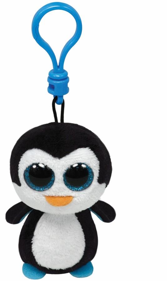 Plus Breloc Ty 8.5cm Boos Pinguinul Waddles