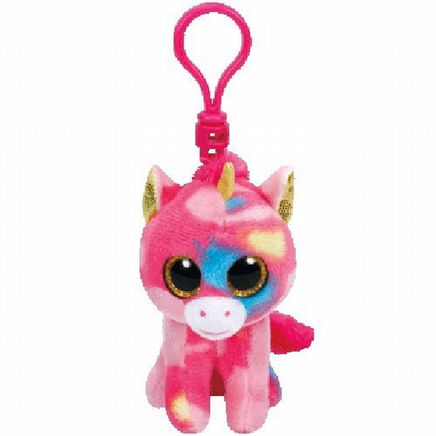 Plus Breloc Ty 8.5cm Boos Unicorn Multicolor