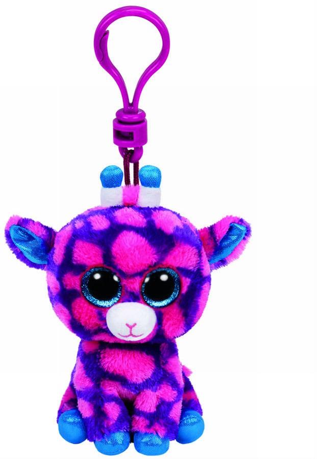 Plus Breloc Ty 8.5cm Boos Girafa Roz Sky High