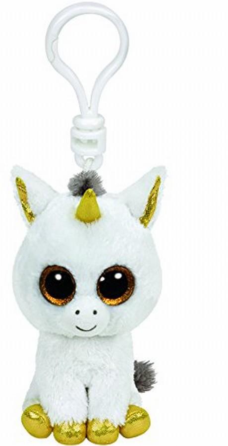 Plus Breloc Ty 8.5cm Boos Unicorn Alb Pegasus