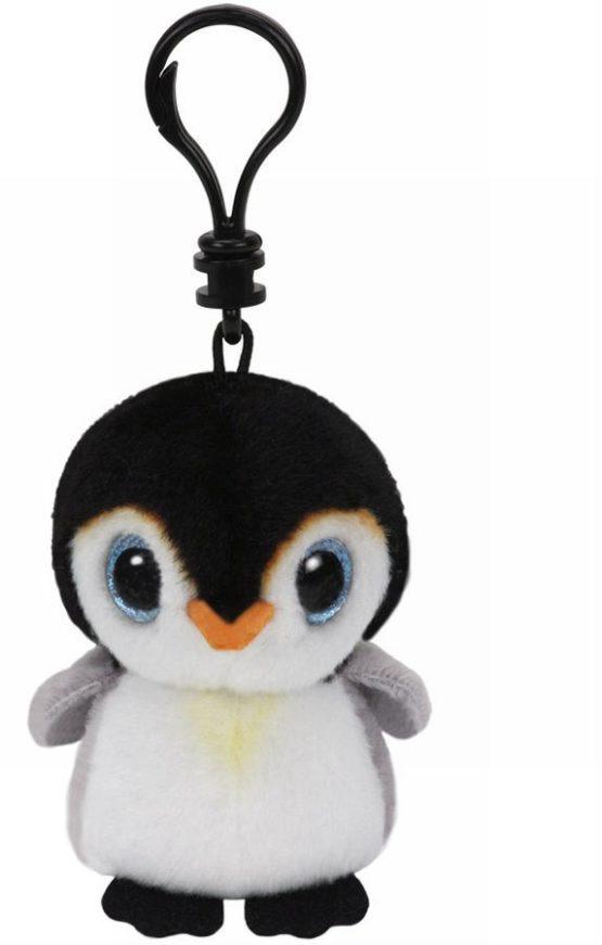 Plus Breloc Ty 8.5cm Boos Pinguin Pongo