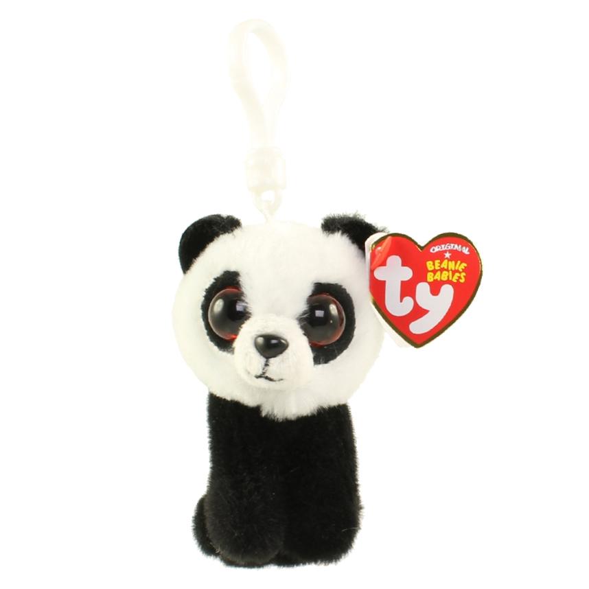 Plus Breloc Ty 8.5cm Boos Ursulet Panda