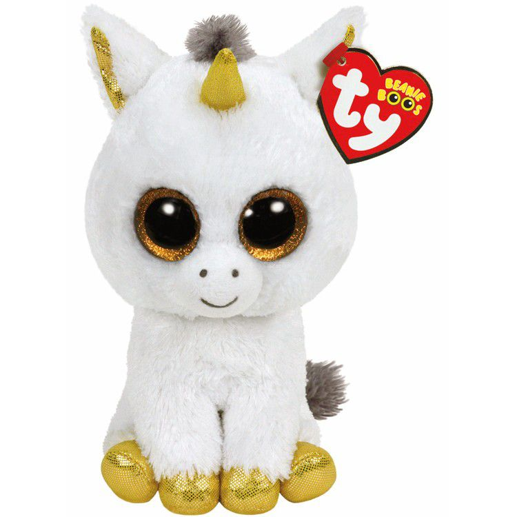 Plus Ty 24cm Boos Pegasus Unicorn Alb