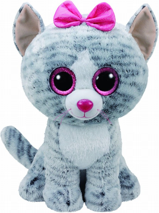 Plus Ty 42cm Boos Kiki Pisica Gri