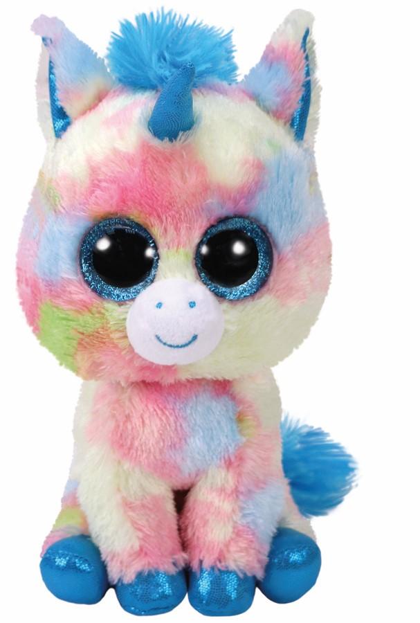 Plus Ty 15cm Boos Blitz Unicorn Albastru