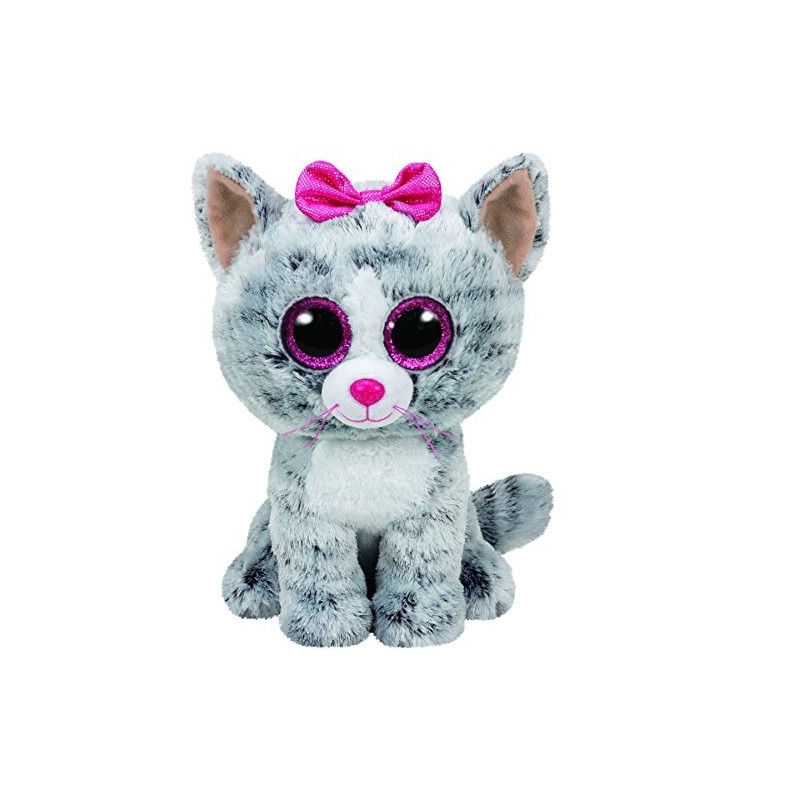 Plus Ty 24cm Boos Kiki Pisica Gri