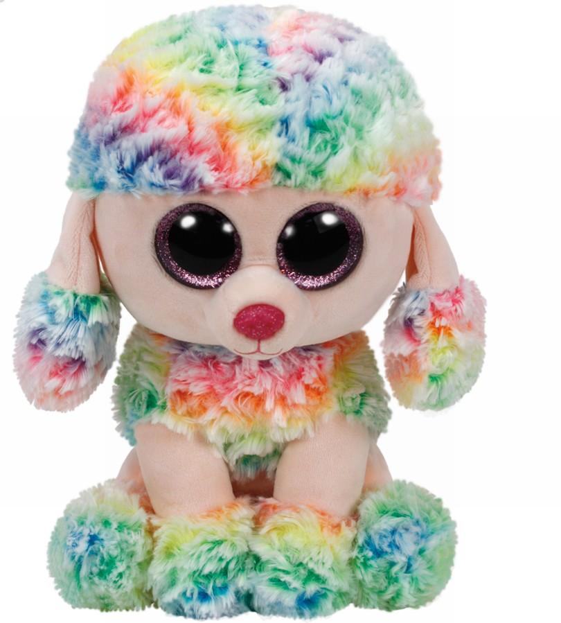 Plus Ty 24cm Boos Rainbow Pudel Multicolor