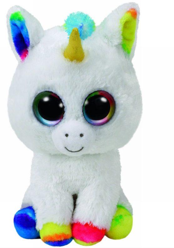 Plus Ty 24cm Boos Pixy Unicorn Alb