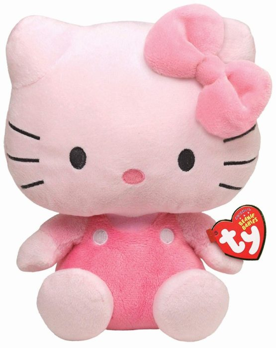 Plus Ty 15cm Beanie Babies Hello Kitty Roz