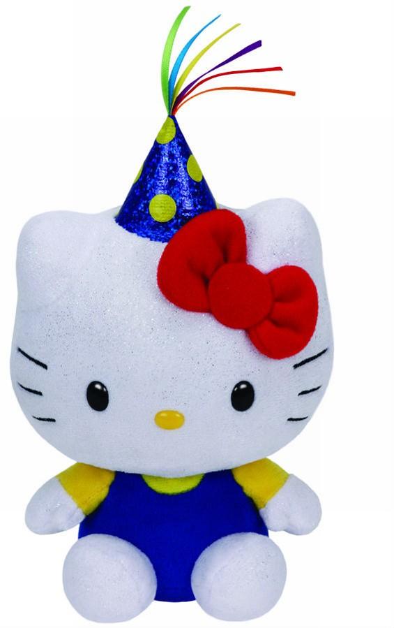 Plus Ty 15cm Beanie Babies Hello Kitty Party