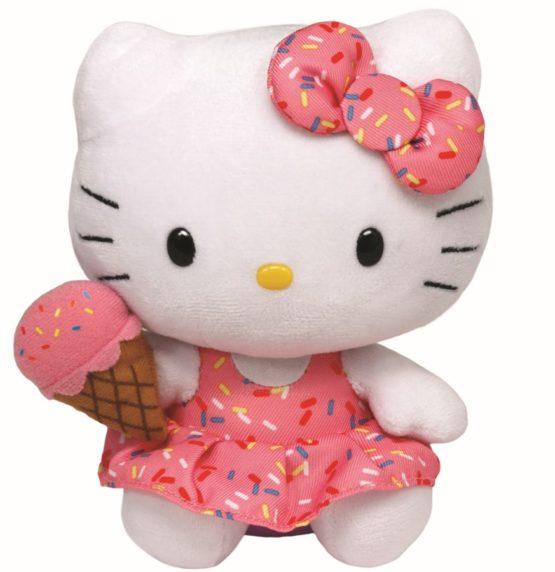 Plus Ty 15cm Beanie Babies Hello Kitty Cu Inghetata