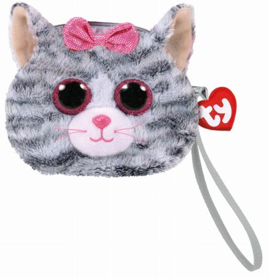 Gentuta De Mana Din Plus Ty 10cm Kiki Pisica Gri