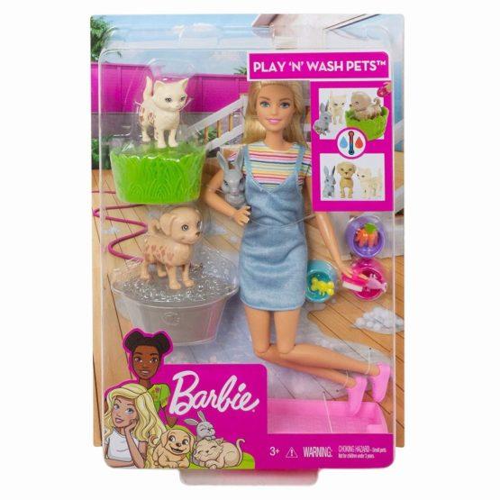 Barbie Family Set De Joaca Papusa Cu Animalutele