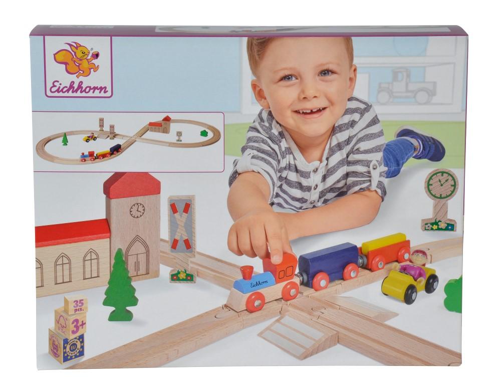Eichhorn Set Tren Si Figurina Cu 8 Sine