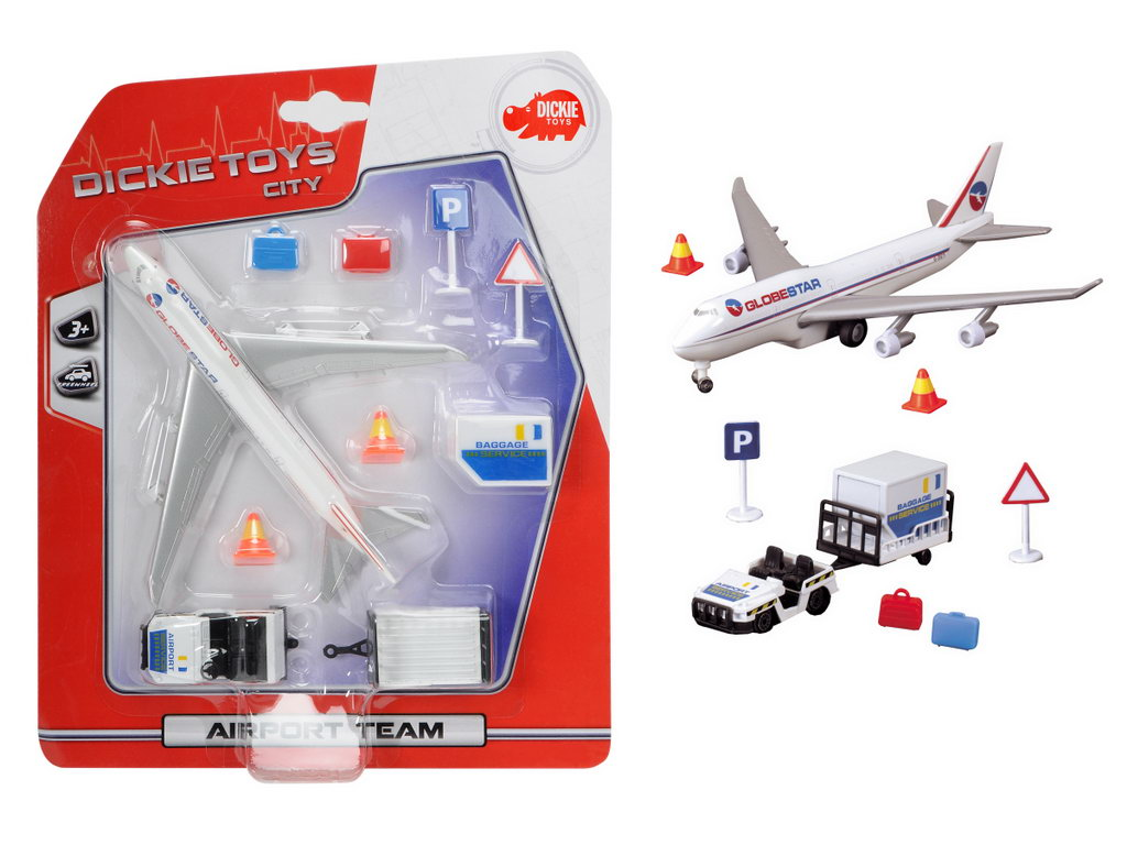 Dickie Set Airport Team Avion