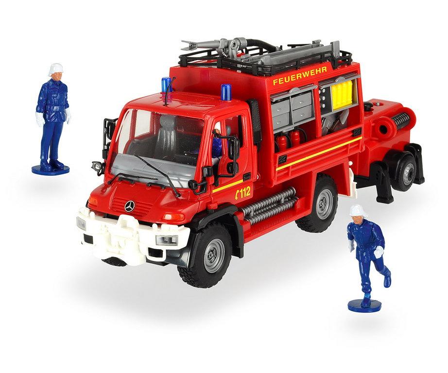 Masina De Pompieri Cu Remorca 2 Figurine 36 Cm