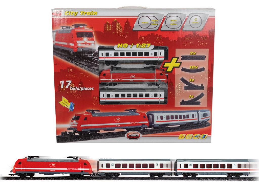 Tren Cu Sunet Lumini 2 Vagoane Si Sine