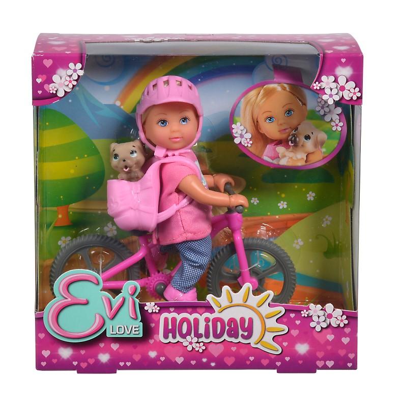Papusica Evi Cu Bicicleta