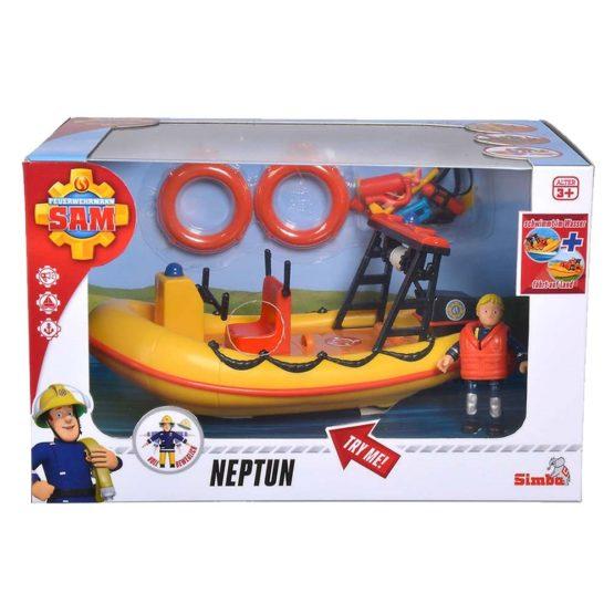 Pompierul Sam Barca Neptun Cu Figurina Si Accesorii