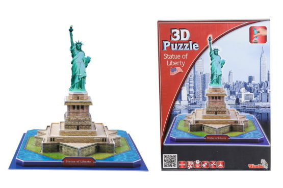 Simba Puzzle 3d Cu 39 Piese Statuia Libertatii