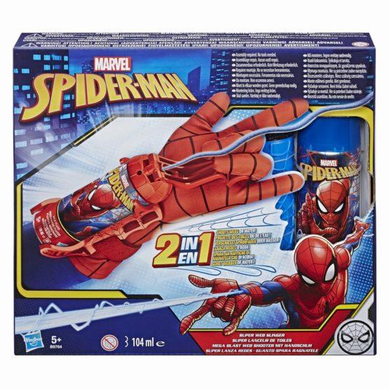 Spider-man Lansator Cu Manusa 2in1 Cu Spuma Si Apa
