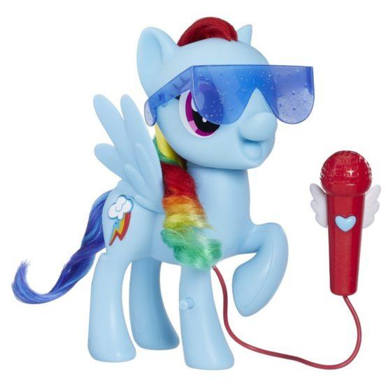 Poneiul Rainbow Dash Canta Cu El