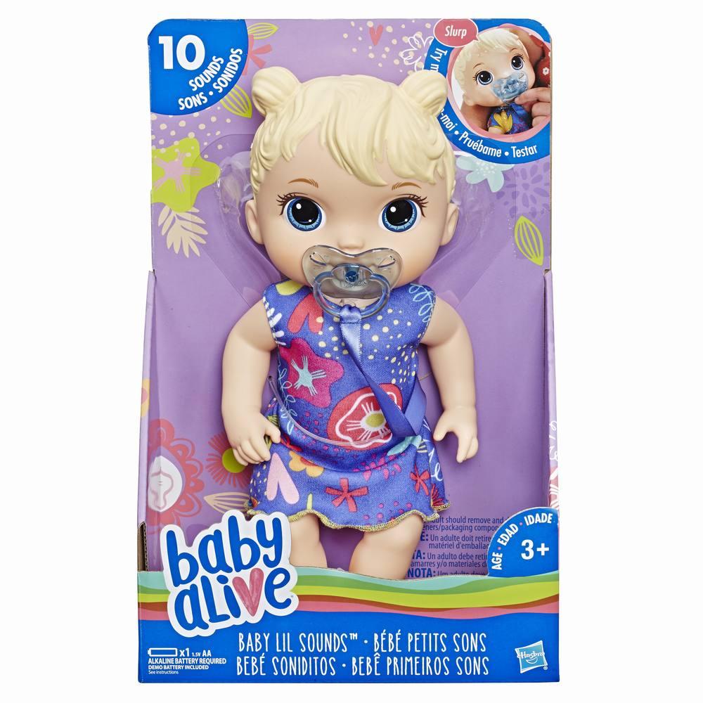Papusa Baby Lil Blonda Cu Sunete