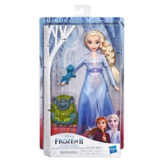 Papusa Frozen2 Elsa Cu Prietenii Pabbie Si Salamander