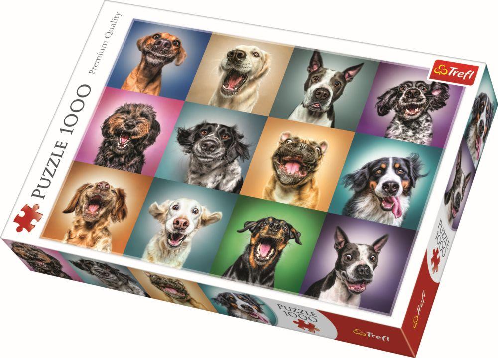 Puzzle Trefl 1000 Portret Catelusi Simpatici