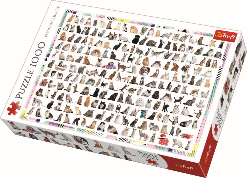 Puzzle Trefl 1000 Pisici 208 La Numar