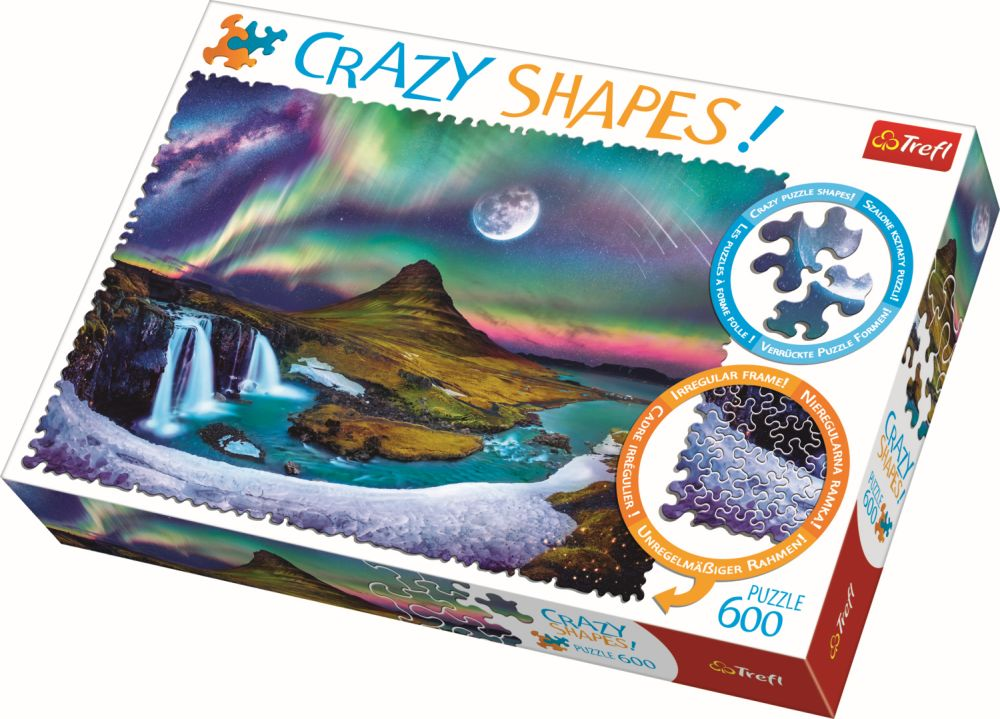 Puzzle Trefl 600 Cu Piese Ciudate – Aurora Boreala Islanda