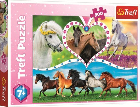 Puzzle Trefl 200 Frumosii Cai