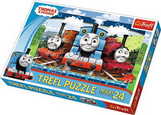 Puzzle Trefl 24 Maxi Locomotive Fericite Thomas