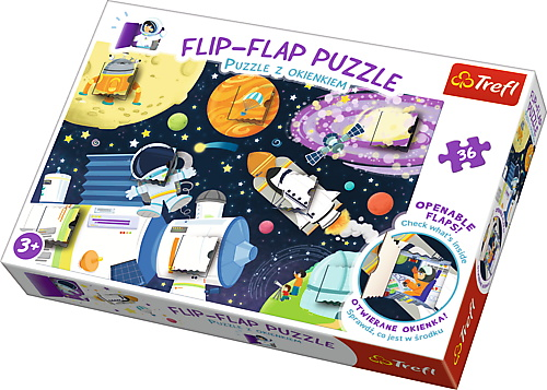 Puzzle Trefl 36 Flip Flap Calatorie In Spatiu