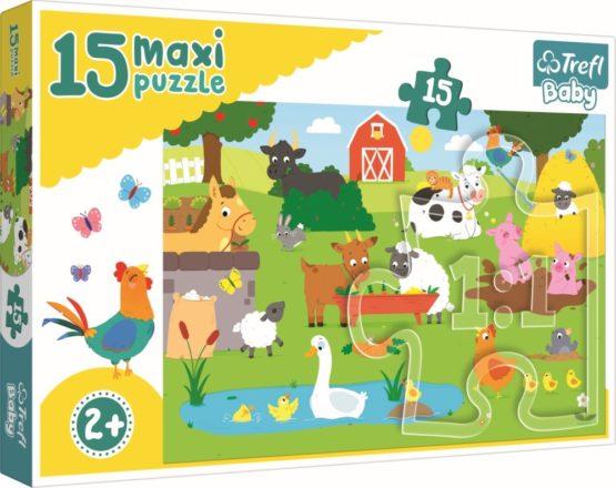 Puzzle Trefl 15 Maxi Animale La Ferma