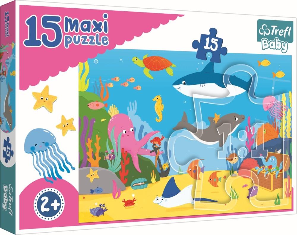 Puzzle Trefl 15 Maxi Lumea Acvatica