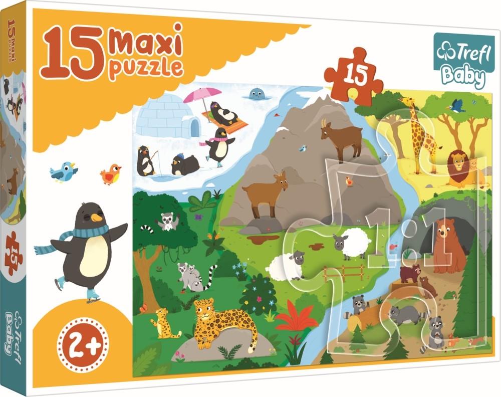 Puzzle Trefl 15 Maxi Lumea Animalelor