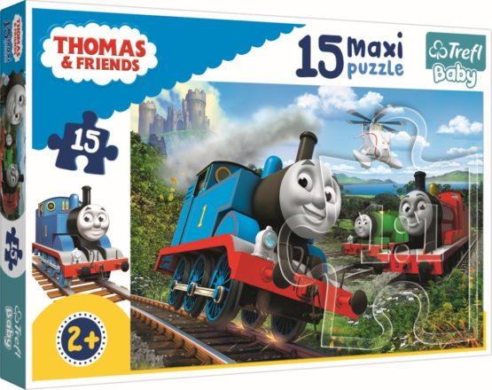 Puzzle Trefl 15 Maxi Locomotive In Viteza