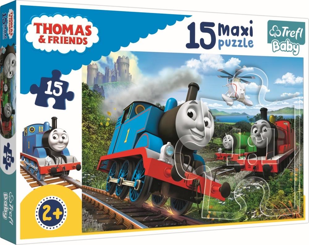 Puzzle Trefl 15 Maxi Thomas Locomotive In Viteza