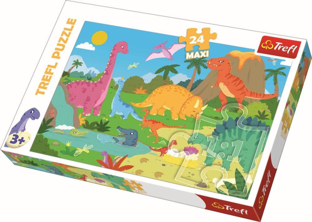 Puzzle Trefl 24 Maxi In Lumea Dinozaurilor