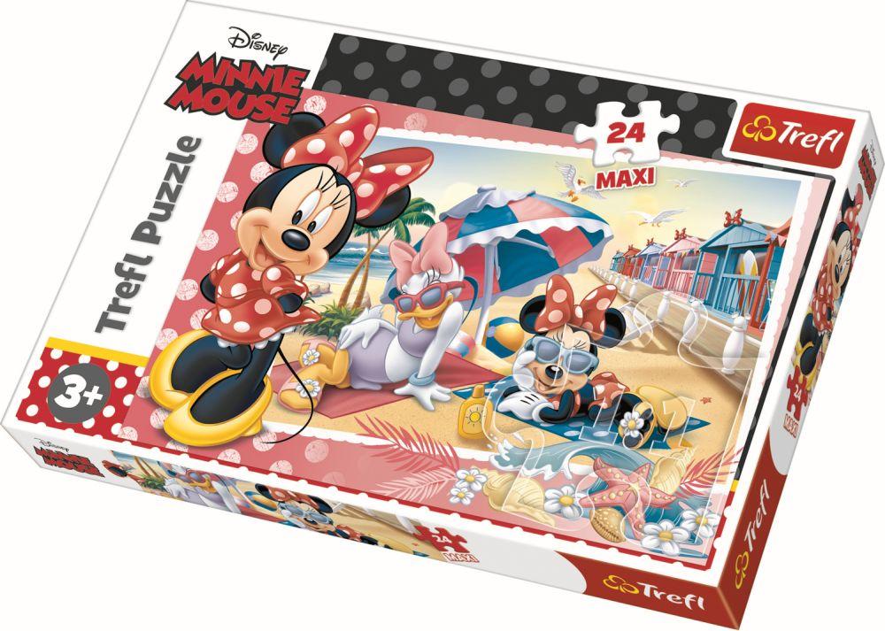 Puzzle Trefl 24 Maxi Minnie In Vacanta
