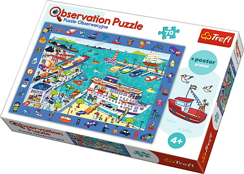 Puzzle Trefl 70 De Observatie Vizita In Port