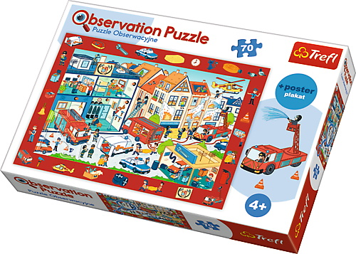 Puzzle Trefl 70 De Observatie La Pompieri