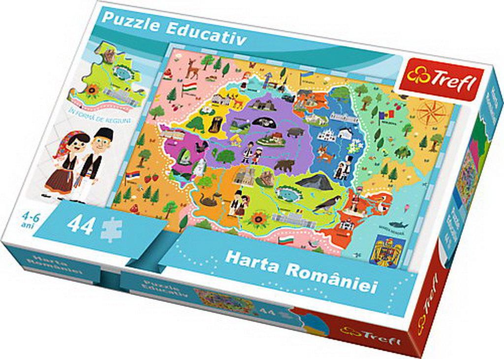 Puzzle Trefl Educational Cu Harta Romaniei